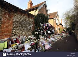 goring george michael floral tributes continue to be left outside the home of george stock