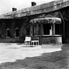 photo taken in may 1945 shows external view of the berghof adolf