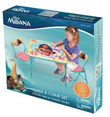 Kids Activity Desk disney moana kids activity table and chairs set toys