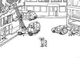 simple fire truck coloring page by fire truck coloring page black