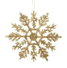 6 glittering gold snowflake ornaments these glittering gold