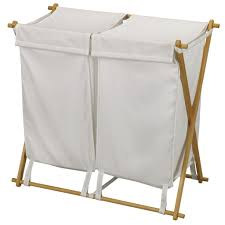 Canvas Laundry Hamper by Simple White Fabric Laundry Hamper Set For Folding Wood Laundry