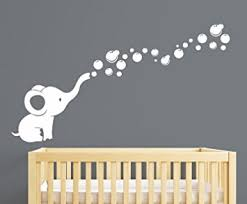 Nursery Wall Decals Elephant Bubbles Nursery Wall Decal Room Decor White