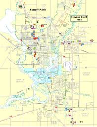 Wisconsin City Map by Stevens Point Softball Association