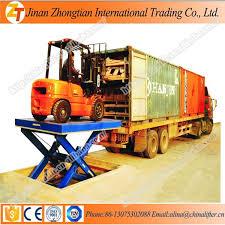 used electric lift table sale 10t stationary hydraulic eletric scissor cargo lift car