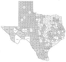 Texas Map By County Texas Confederate Statues And Monuments