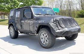 2018 jeep wrangler jl 2 door spied zf 8 speed auto and other jeep wrangler unlimited spy shots autozaurus