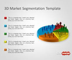 free 3d market segmentation powerpoint template is a presentation
