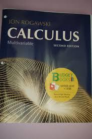 jon rogawski calculus multivariable 2nd edition loose leaf loose