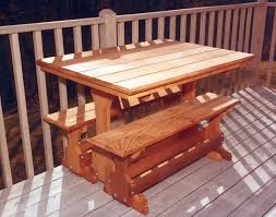 Picnic Table Dining Room Red Cedar Rectangular Trestle Picnic Table Set