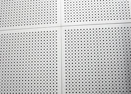 fireproof colored perforated aluminum ceiling panels commercial