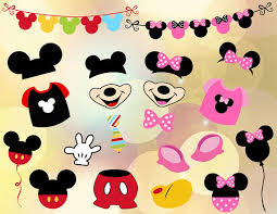 mickey mouse photo booth props instant mickey mouse photo booth props digital pink