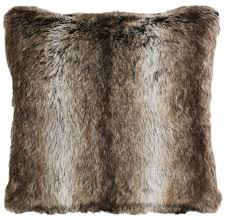 Faux Fur Bed Throw Chinchilla Fur Pillow Carstens Inc
