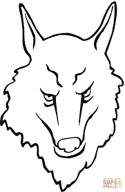 wolf face coloring page free printable coloring pages