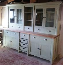 painted free standing kitchen large basket dresser unit standing
