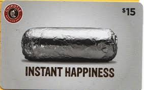 15 gift cards free 15 chipotle gift card gift cards listia auctions