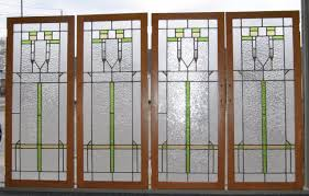 stained glass door windows antique arts u0026 crafts stained glass oak cabinet doors with ripple