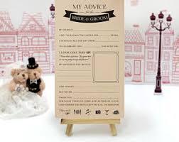 Wedding Wishes And Advice Cards Wedding Advice Cards Etsy