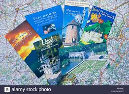 Map Of France Cities by French Tourist Brochures Scattered On Map Of France Stock Photo