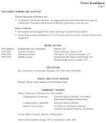 Sample Artist Resume by Download Arts Administration Sample Resume Haadyaooverbayresort Com