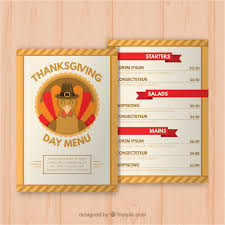 thanksgiving day menus thanksgiving day menu template vector free