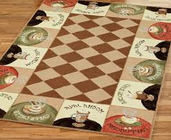 themed rug coffee themed kitchen decor