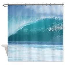 surfing shower curtain foter