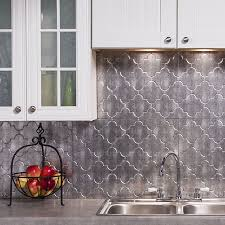 Thermoplastic Panels Kitchen Backsplash Antique Mirror Arabesque Mosaic Glass Tile 10in X 14in