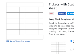 10 raffle ticket templates free for print and use