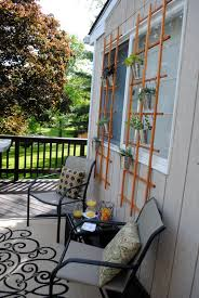 diy deck idea shady seating and a living wall making lemonade
