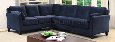 Navy Sectional Sofa Peever Ii Sectional Sofa Cm6368nv In Navy Flannelette Fabric