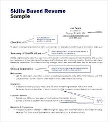 Sample Of Resume Skills And Abilities by Skills Based Resume Examples Resume Skills Examples For Customer
