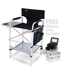 portable makeup chair with side table pro makeup artist chair makeup case combo includes the earth