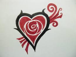 how to make a heart rose tattoo youtube