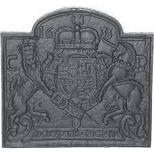 coat of arms 1635 cast iron fire back 23 5 u0027 u0027 wide cast iron