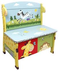 Kids Bench With Storage Sunny Safari Handcrafted Kids Storage Bench Seat Transitional