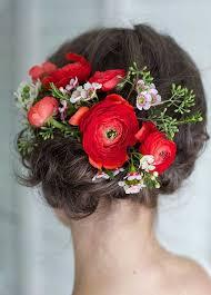 flower hair bun 25 best flowers for hair hairstyles 2016 2017