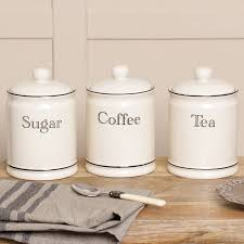 retro cream tea coffee and sugar canisters by dibor retro cream tea coffee and sugar canisters