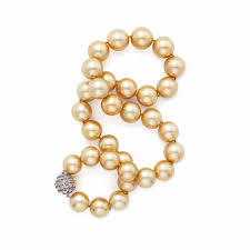 luxury pearl necklace images Golden south sea pearl jewellery the jewellery editor jpg