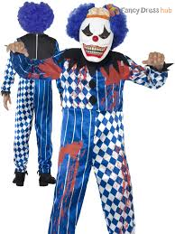 Halloween Clown Costumes Scary Boys Blood Curdling Jester Costume Clown Halloween Fancy Dress