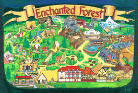 Salem Oregon Map by Park Map Enchanted Forest Theme Park