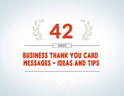 business thank you cards 42 best business thank you card messages sles tips and ideas