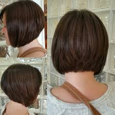 tight bob graduated bob short haircut my work pinterest