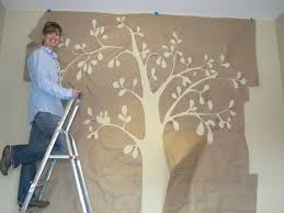 wall painting flower stencils with paint stencil roller design