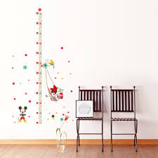mickey minnie mouse growth chart ruler wall sticker growth mickey minnie mouse growth chart ruler wall sticker
