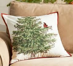 Christmas Pillows Pottery Barn Cardinal Bird In Tree Pillow Cover Pottery Barn