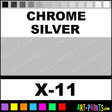 chrome silver color acrylic paints x 11 chrome silver paint