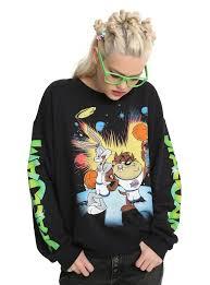 space jam sweater space jam bugs bunny taz sweatshirt topic