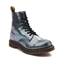 dr martens womens boots size 9 womens dr martens pascal 8 eye sparkle boot multi 569768