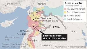 Map Of Syria And Surrounding Countries by The Military Airfield Hit By U S Missiles In A Deeply Divided